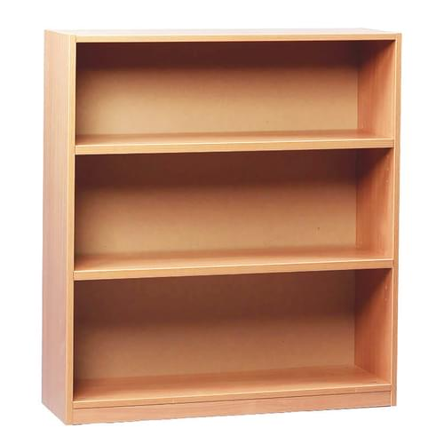 1000mm Tall Bookcase with 2 Shelves Beech