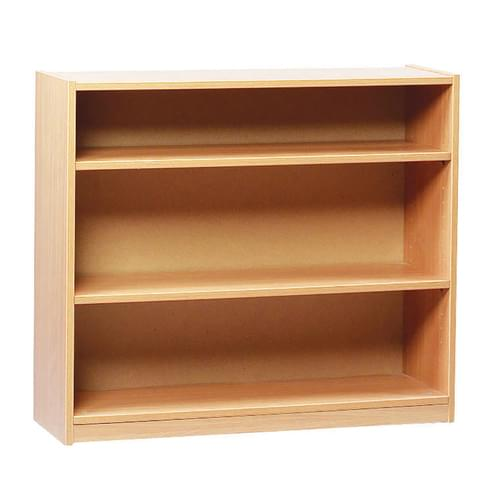 750mm Tall Bookcase with 2 Shelves Beech