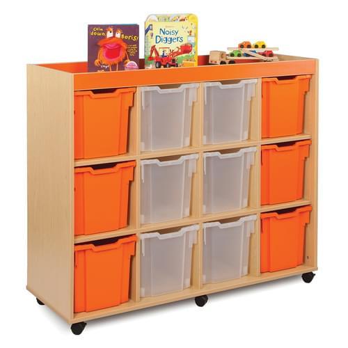 Bubblegum 12 Jumbo Tray Storage Unit