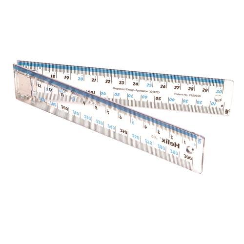 Helix 30cm/300mm Folding Ruler