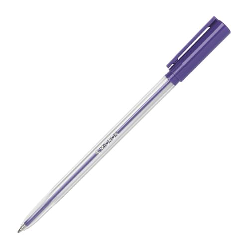 Super Saver Ball Pen Medium Purple Pk50