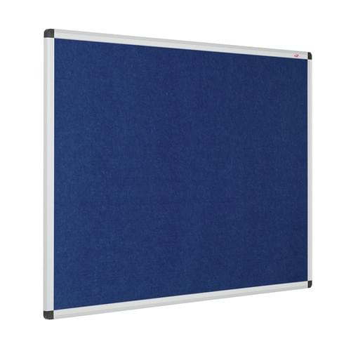 Resist-a-Flame Eco-Colour Aluminium Framed Noticeboard 900x600mm Blue