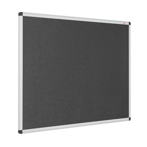 Resist-a-Flame Eco-Colour Aluminium Framed Noticeboard 900x600mm Charcoal