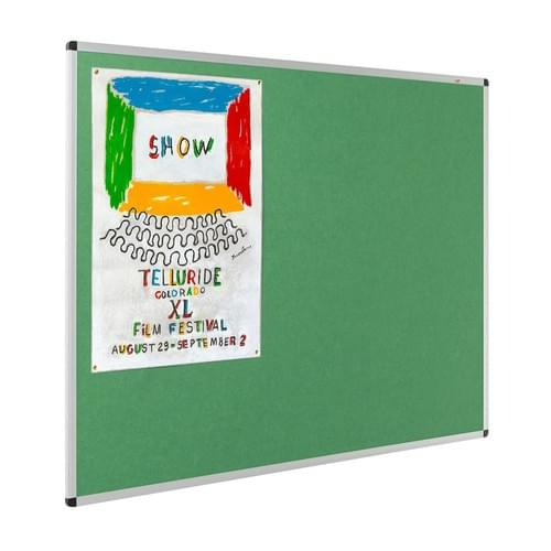 Resist-a-Flame Eco-Colour Aluminium Framed Noticeboard 900x600mm Green