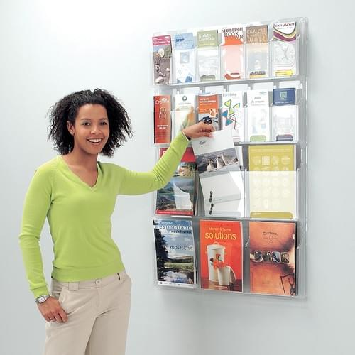 All Clear Wall Mounted Literature Dispenser 12x A4