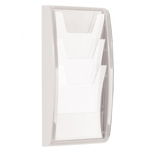 Panorama Wall Mounted Literature Holder 3x A4 White