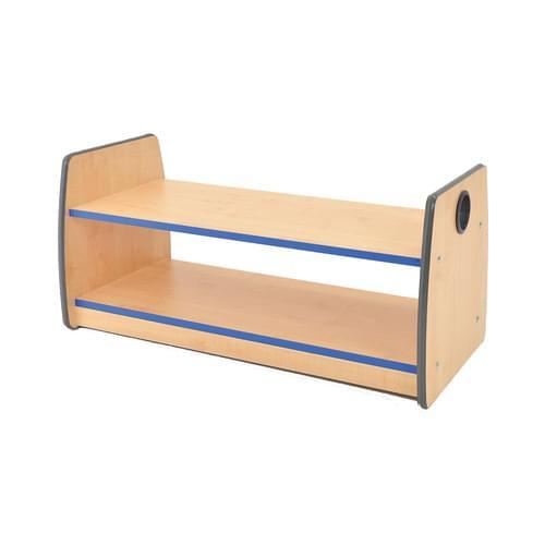 Colouredge Single Shelf Unit with Blue Trim
