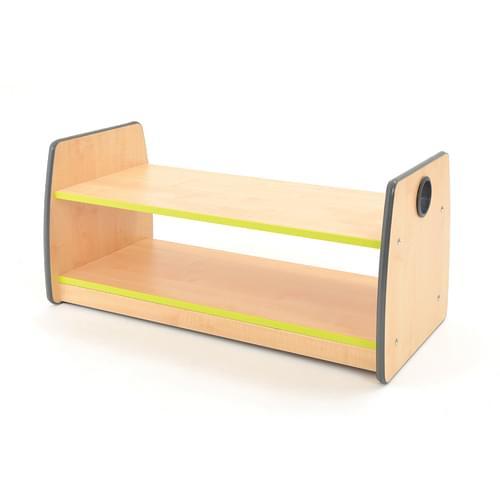 Colouredge Single Shelf Unit with Lime Trim