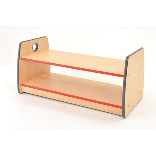Colouredge Single Shelf Unit with Red Trim
