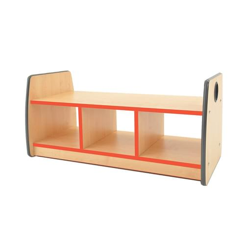 Colouredge Bench Unit with Red Trim