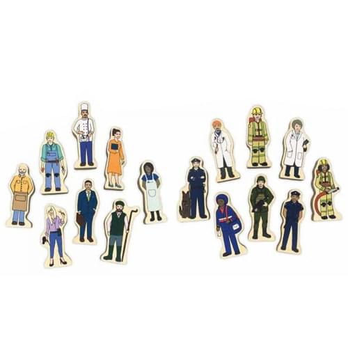 Professions Wooden Figures
