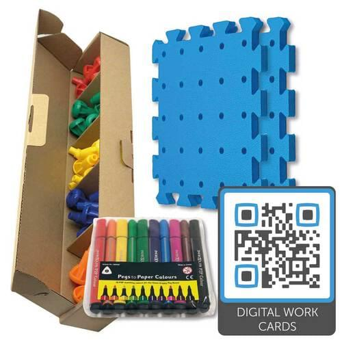 Pegs to Paper Step 1 (without pots, with QR code)
