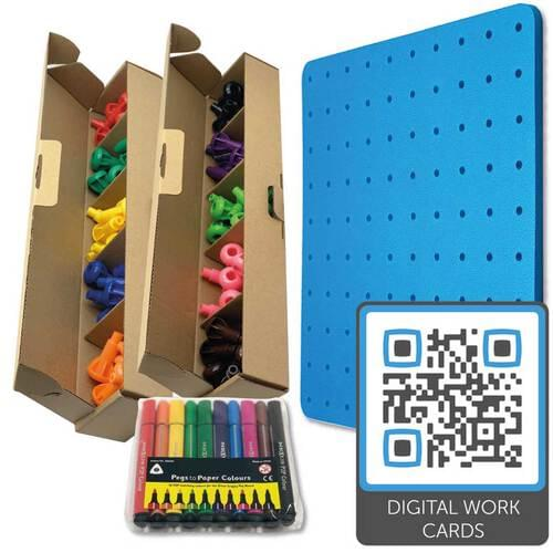 Pegs to Paper Step 2 (without pots, with QR code)