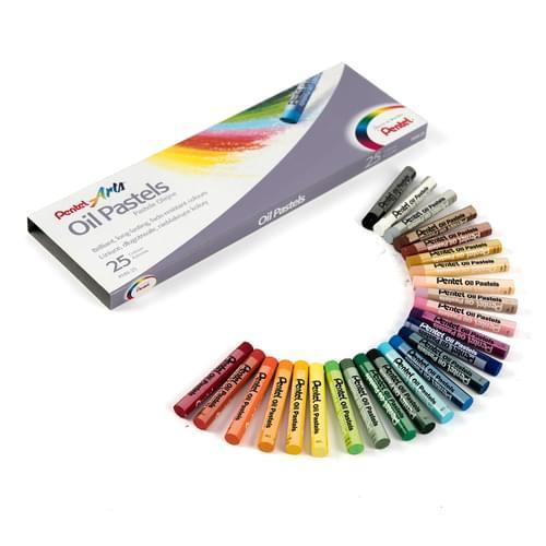 Pentel Arts Oil Pastels 25 Sticks