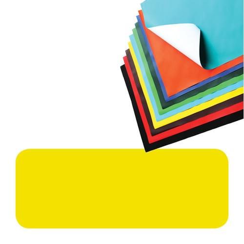 Super Saver Poster Paper Sheets 510x760mm Yellow Pk25