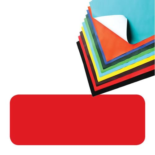Super Saver Poster Paper Sheets 510x760mm Red Pk25