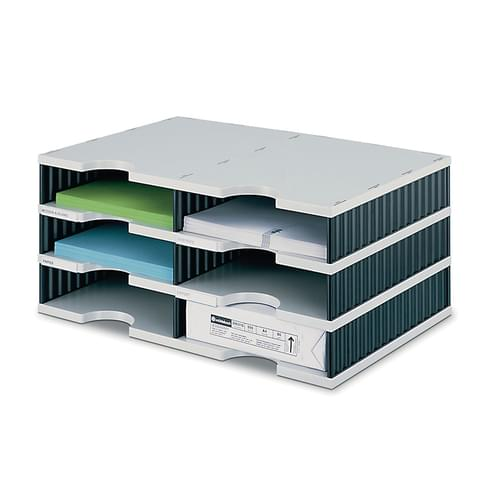 Styrodoc Duo 6 Compartment Desktop Storage Unit