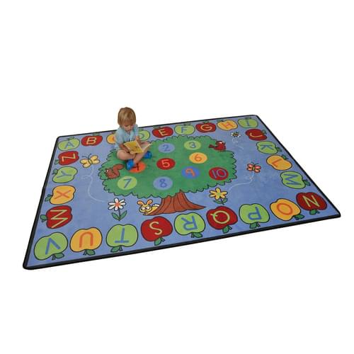 Trees & Apples Alphabet & Numbers Learning Rug