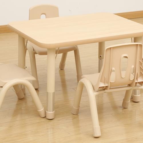 Elegant Height Adjustable 4 Seater Rectangular Table