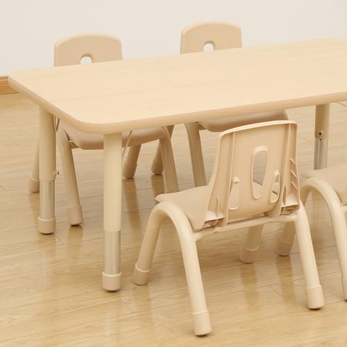 Elegant Height Adjustable 6 Seater Rectangular Table