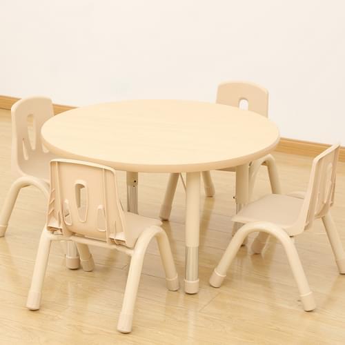 Elegant Height Adjustable 4 Seater Round Table