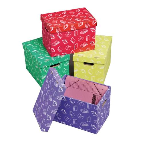 Class Store Handy File Assorted Pk4