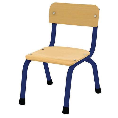 Milan Stacking Chair Size 1 (H: 260mm) Blue Frame Pk4