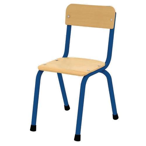 Milan Stacking Chair Size 3 (H: 350mm) Blue Frame