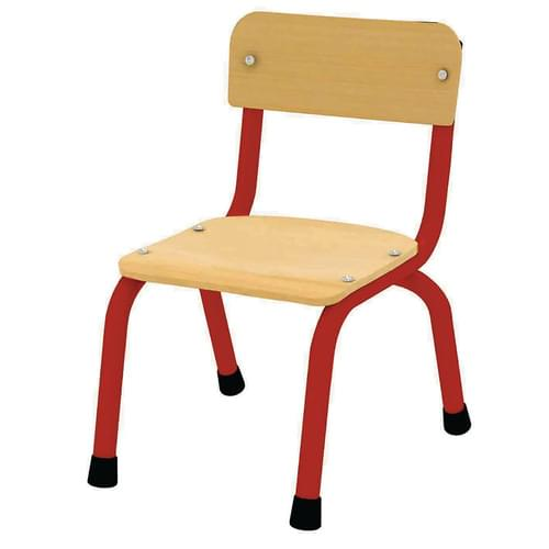 Milan Stacking Chair Size 1 (H: 260mm) Red Frame