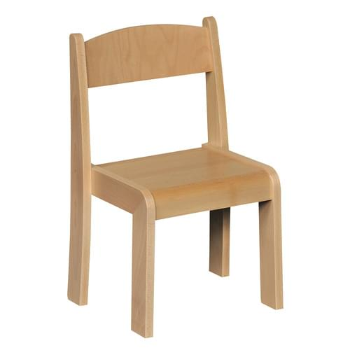 Beechwood Stacking Chair Size 3 (H: 350mm) Natural