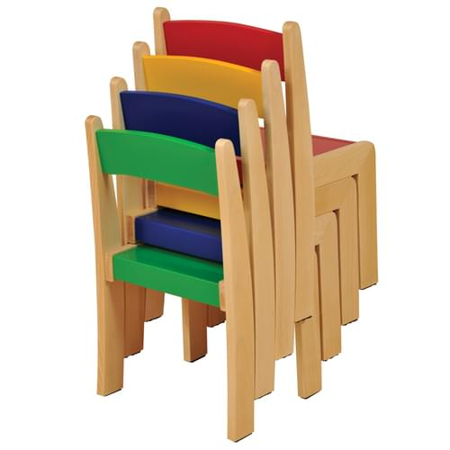 Beechwood Stacking Chair Size 1 (H: 260mm) Assorted