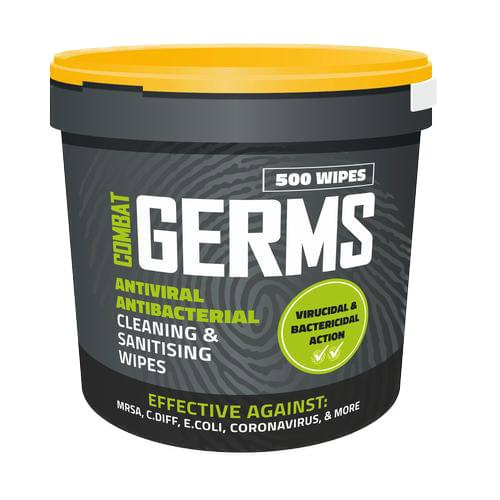 Antiviral Antibacterial Cleaning and Sanitising Tub of 500 Wipes