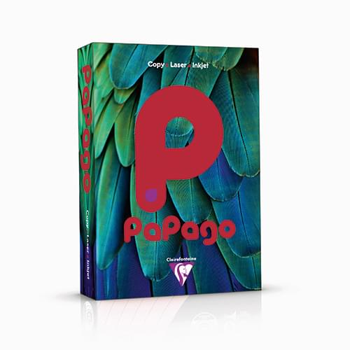 PaPago Coloured Card Intensive Red A4 160gsm
