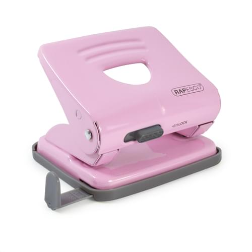 Rapesco 825 Metal 2 Hole Punch Candy Pink