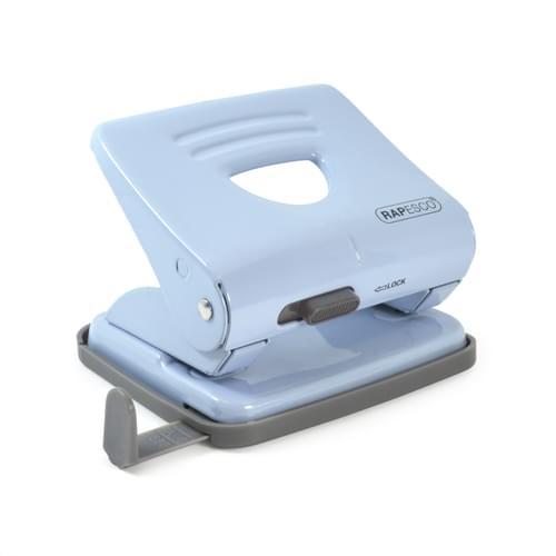 Rapesco 825 Metal 2 Hole Punch Powder Blue