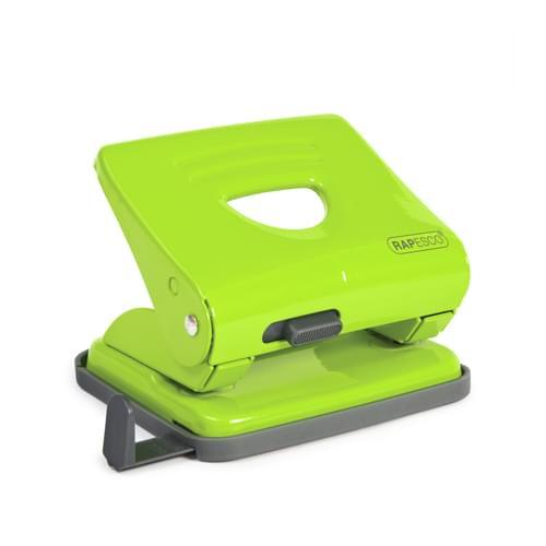 Rapesco 825 Metal 2 Hole Punch Green