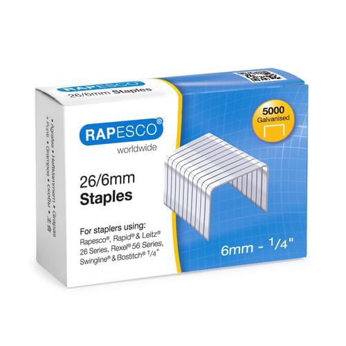 Rapesco 26/6 Staples Pk5000