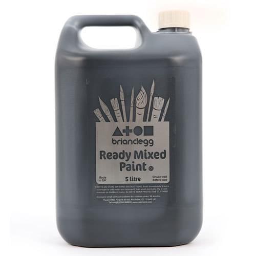 Ready Mixed Paint 5 Litre Bottle Black