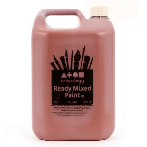 Ready Mixed Paint 5 Litre Bottle Burnt Sienna