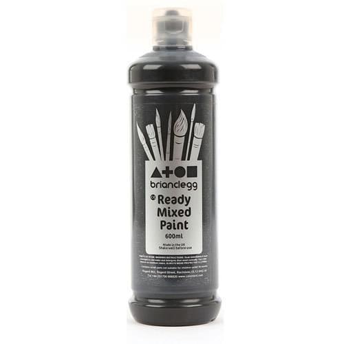 Ready Mixed Paint 600ml Bottle Black