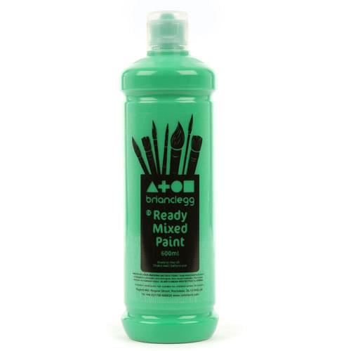 Ready Mixed Paint 600ml Bottle Green