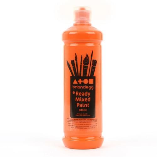 Ready Mixed Paint 600ml Bottle Orange