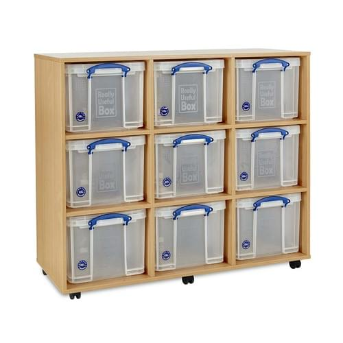 9x 35 Litre Really Useful Box Mobile Storage Unit