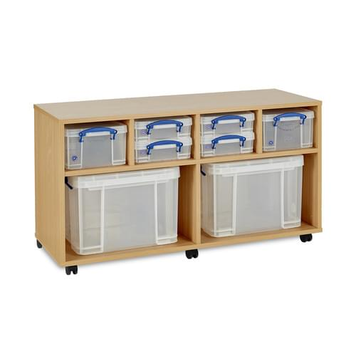 4x 4 Litre, 2x 9 Litre & 2x 35 Litre Really Useful Box Mobile Storage Unit