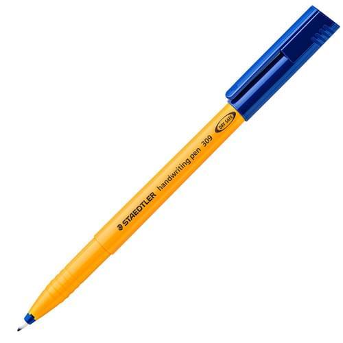 Staedtler 309 Handwriting Pen Blue Classpack of 100
