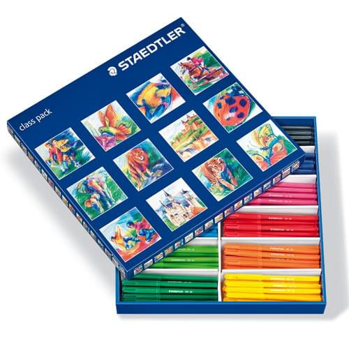 Staedtler Noris Club Fine Colouring Felt Pens Assorted Classpack of 144