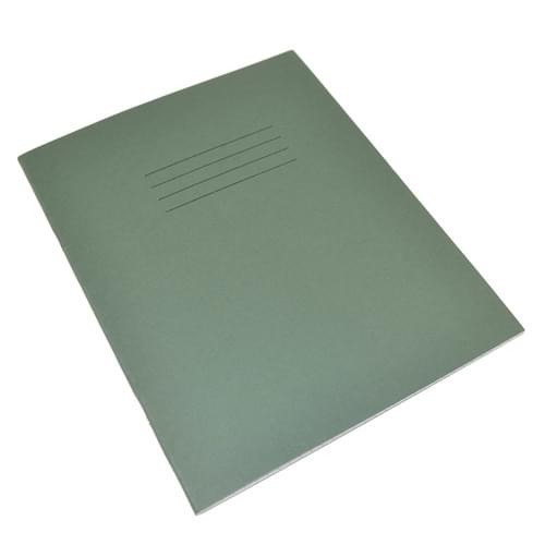 Rhino Handwriting Books 8x6.5in 4mm Blue Ruled Centered on 15mm Red Ruled Dark Green 32 Pages