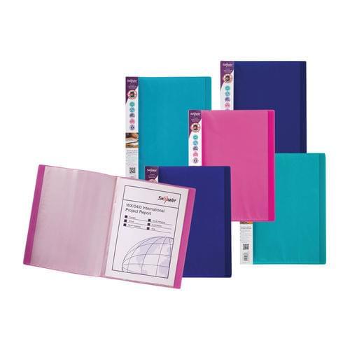 Snopake Electra Display Books 24 Pockets A4 Assorted Pk10