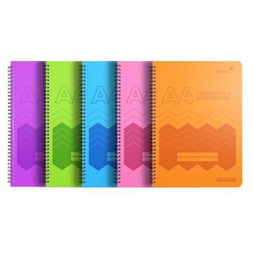 Silvine Polypropylene Notebook A4 Assorted
