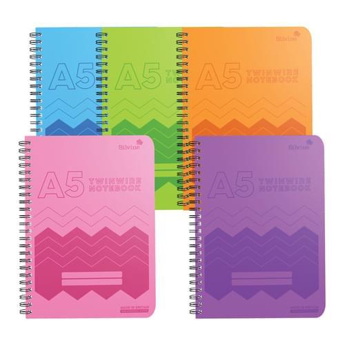 Silvine Polypropylene Notebook A5 Assorted